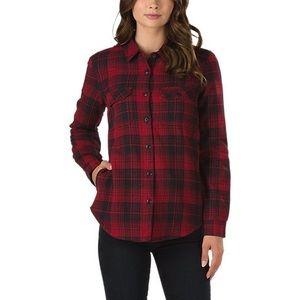 Vans Red Flannel Jacket Quilted Interior
